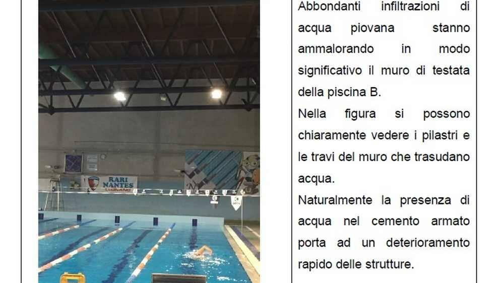 Degrado piscina di Legnano