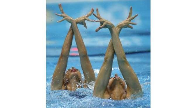 Irene Sette ed Erica Ghezzi Rari Nantes Legnano Nuoto Sincronizzato