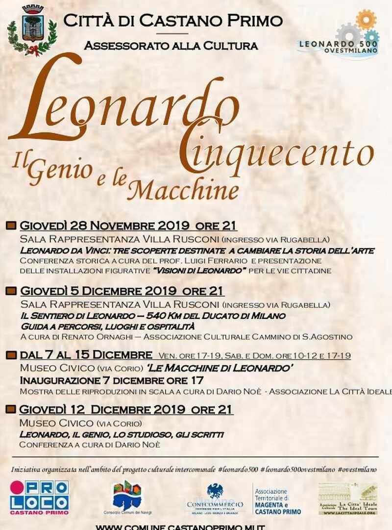 Leonardo Cinquecento, il Genio e le macchine a Castano Primo