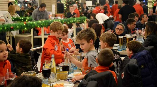Cena di Natale Canegrate Calcio Pizzeria Tourlè Parabiago