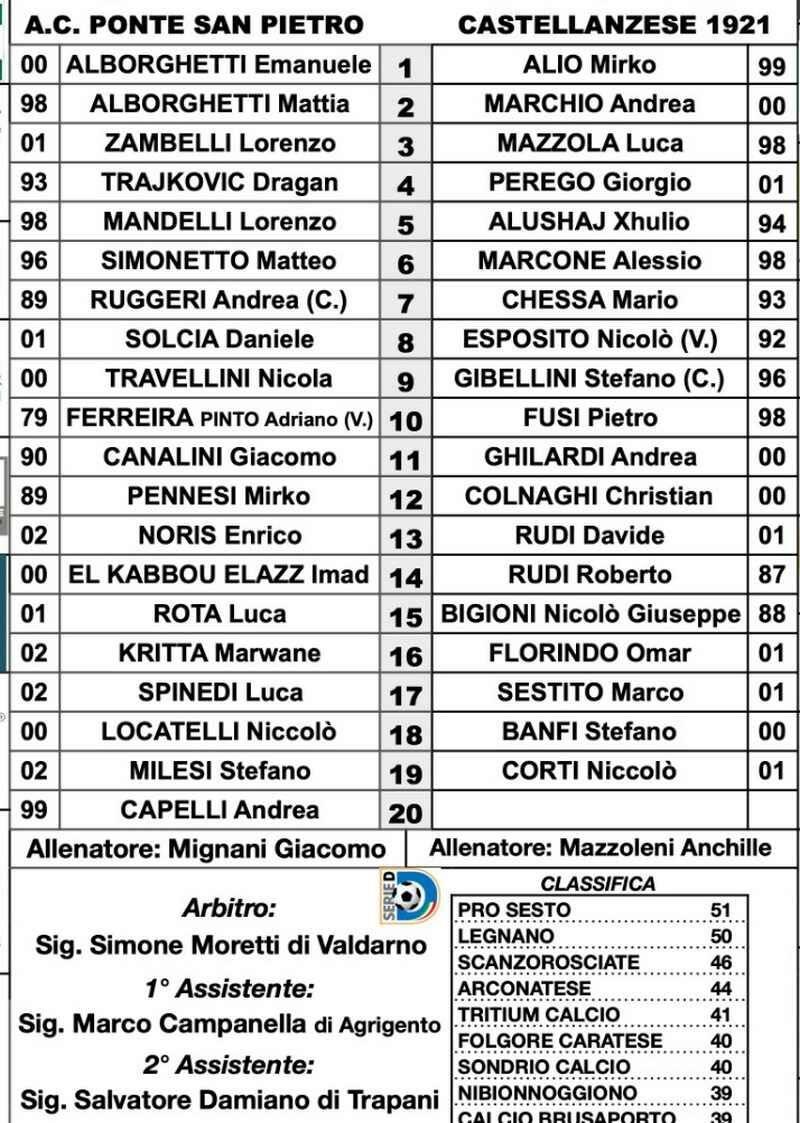 Calcio amichevole Legnano-Verbano arbitro Fabio Lazzati