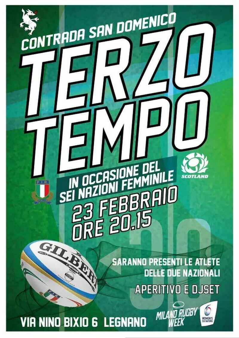 Terzo Tempo Italia-Scozia 6 Nazioni femminile rugby Contrada San Domenico