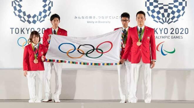 Bandiera Olimpiadi Tokio 2020