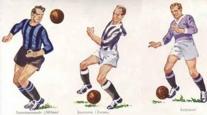 Juventus Inter e Legnano anni '50