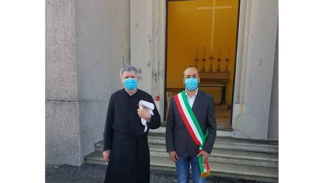 San Giorgio su Legnano vicesindaco Claudio Ruggeri e di Don Antonio