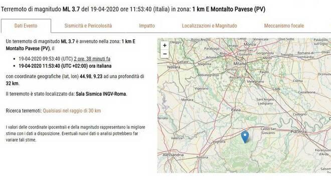 Terremoto Oltrepò Pavese