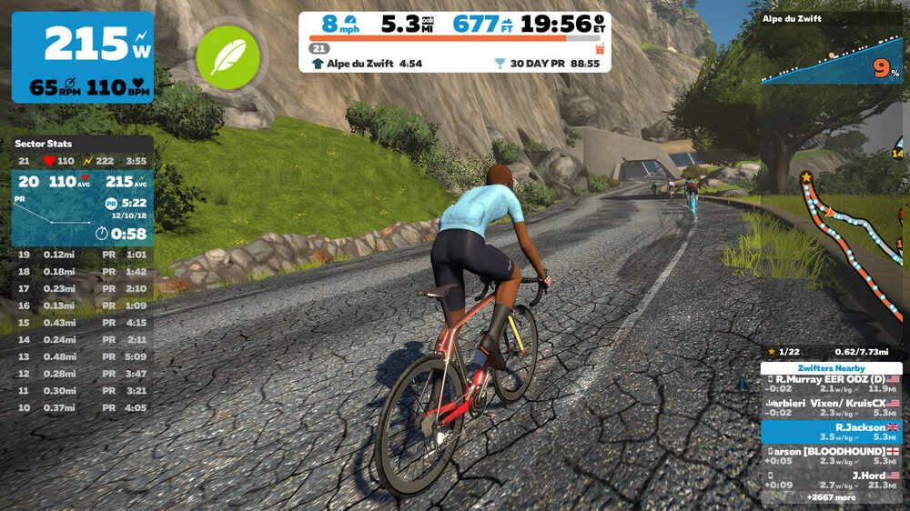 Zwift simulatore ciclismo