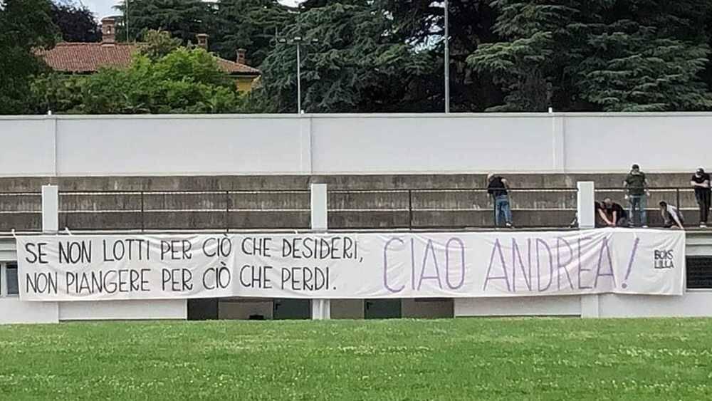Striscione Boys Lilla Andrea Rinaldi A.C. Legnano