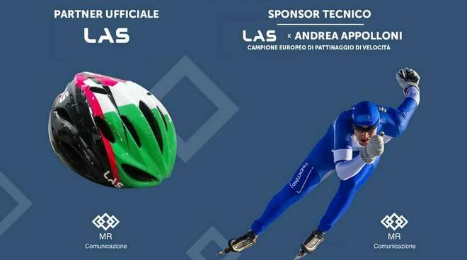 LAS Helmets sponsor dell'azzurro Andrea Appolloni