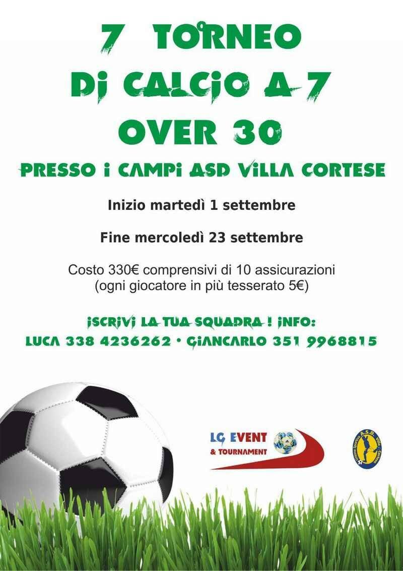 torneo di calcio a 7 over 30 Villa Cortese