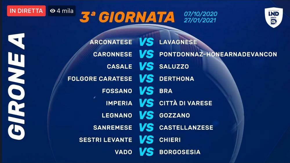 Calendari Serie D Girone A