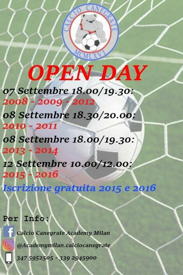open day canegrate
