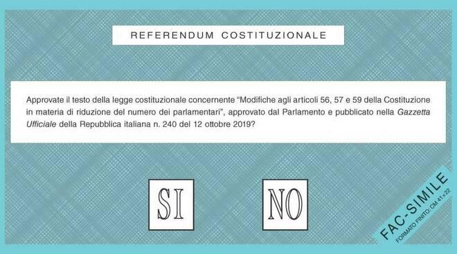 Scheda referendum 2020