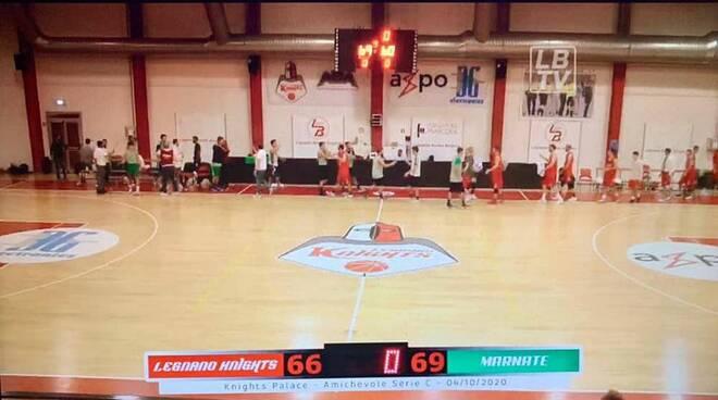 Knights Legnano - Marnatese Basket 66-69 basket amichevole