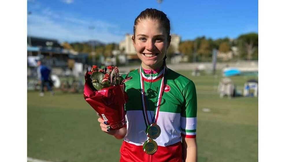 Martina Alzini campionessa italiana ciclismo su pista eliminazione