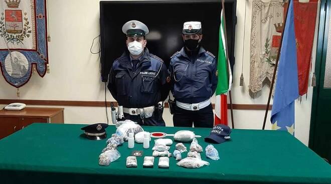 Sequestro droga Polizia Locale Legnano