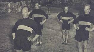 Allenamenti Legnano estate 1953 Torreano Mion Manzardo Palmer