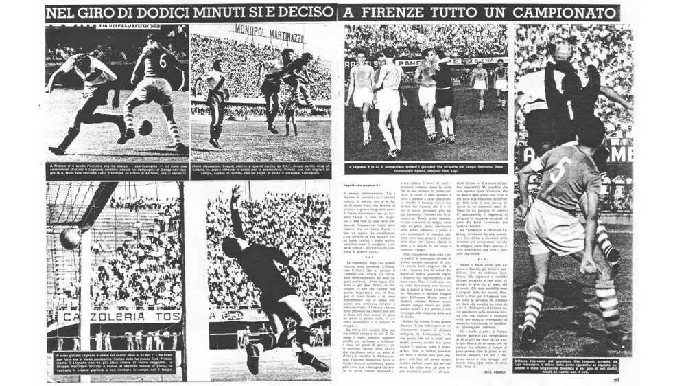 Lo spareggio promozione in Serie A Legnano-Catania 4-1 del 1952/53