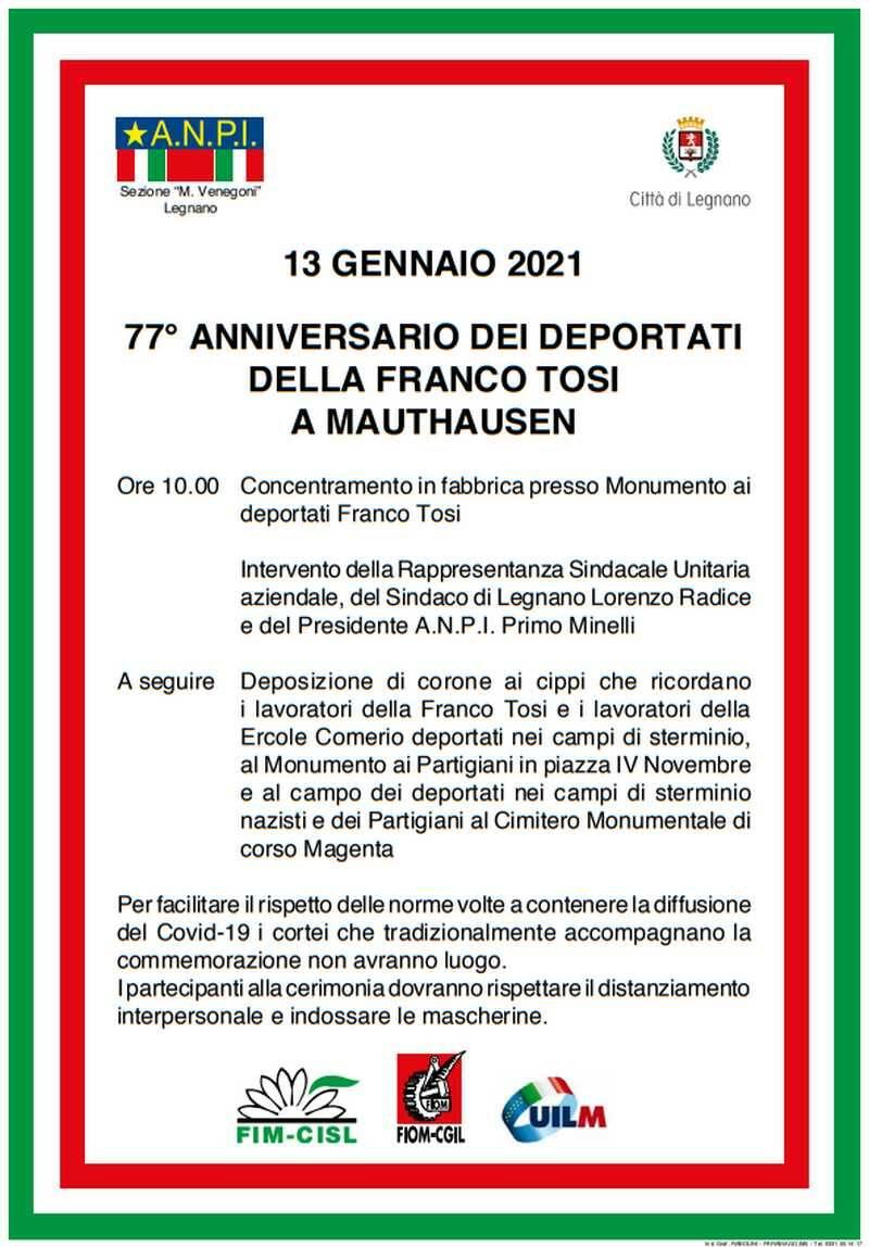 77° Anniversario dei deportati della Franco Tosi a Mauthausen