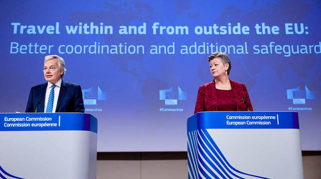 Commissari UE per la Giustizia Didier Reynders e per gli Affari Interni Ylva Johansson