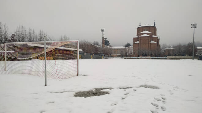 Stadio Attilio Bravi Bra innevato