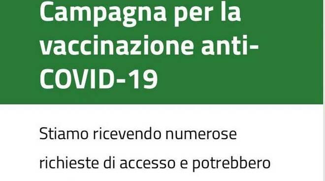 Campagna vaccinale anti-covid Over 80 Regione Lombardia