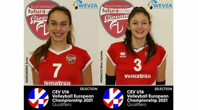 Due atlete di Futura Volley Giovani in selezione per il Campionato Europeo 2021 di pallavolo