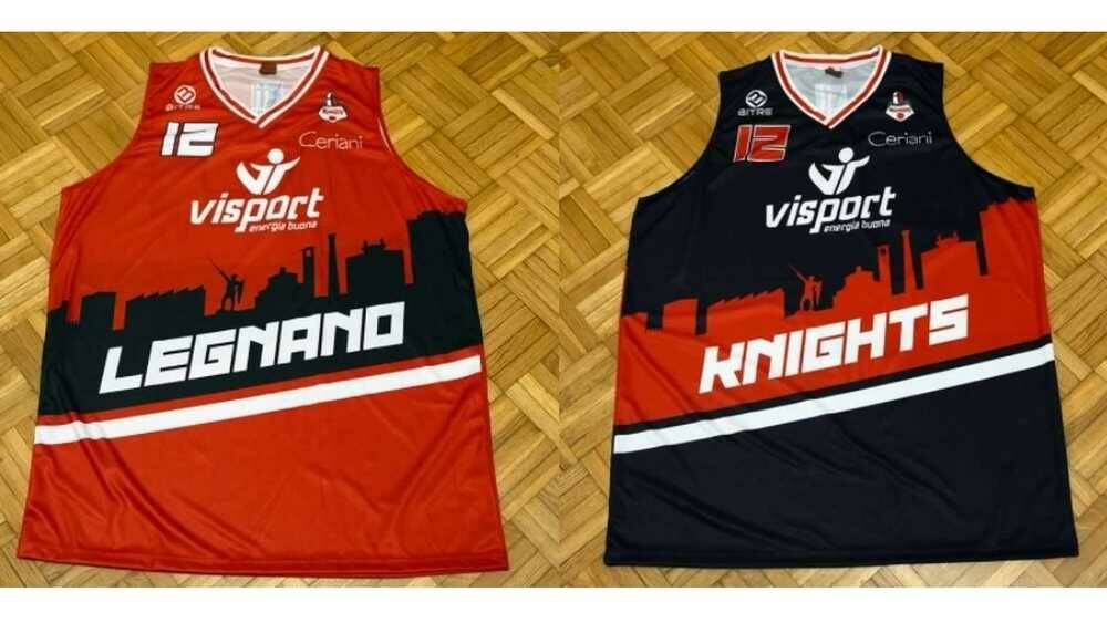 Nuove maglie Knights Legnano Basket 2021