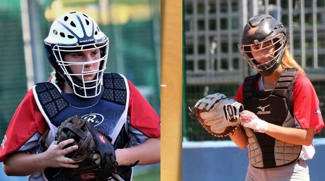 Giulia Bancora e Camilla Fazio Nazionale Under 18 softball Legnano