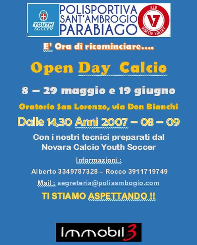 Polisportiva Santambrogio Parabiago Open Day calcio