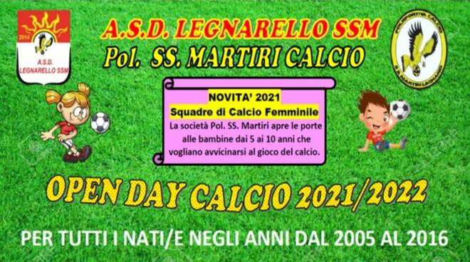 Open Days Asd Legnarello SSM e Polisportiva SS. Martiri