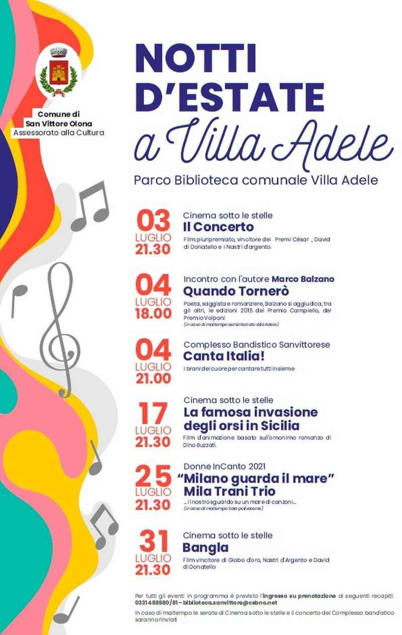 San Vittore Olona notti d'estate a Villa Adele
