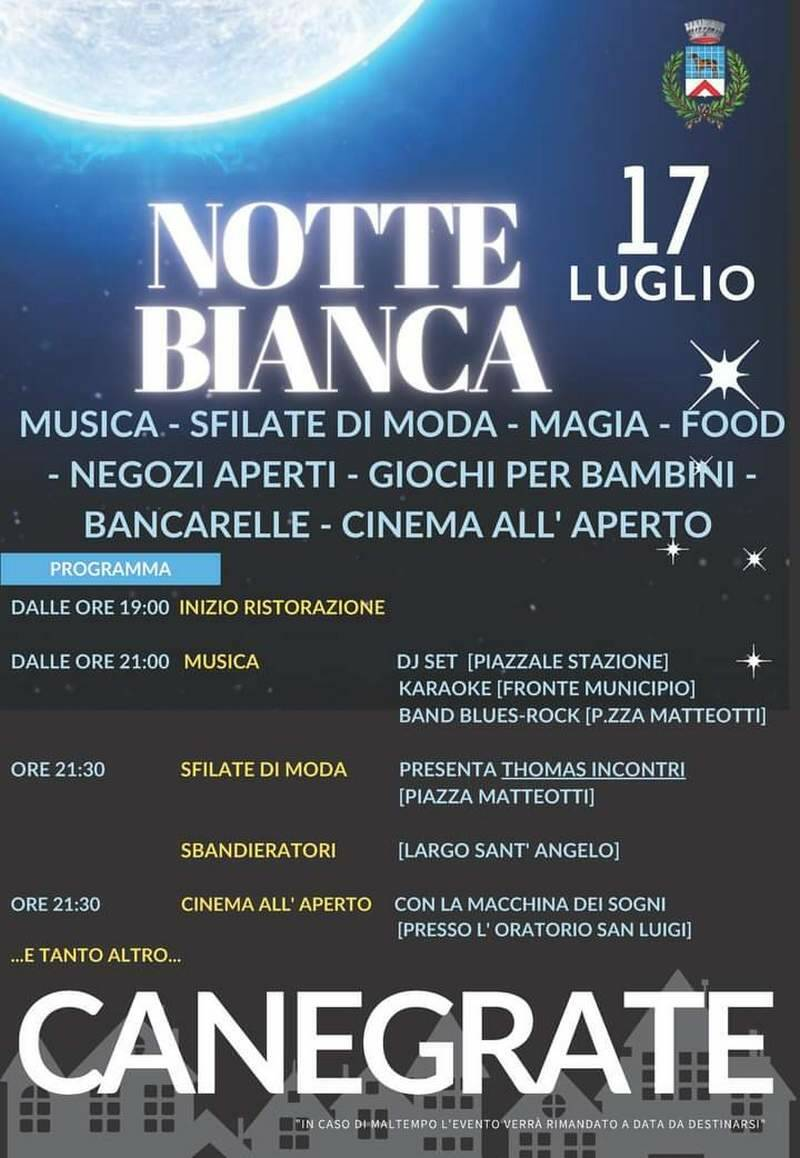 Notte Bianca 2021 Canegrate