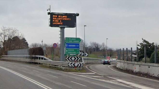 Autostrada A8 Milano-Laghi uscita Castellanza