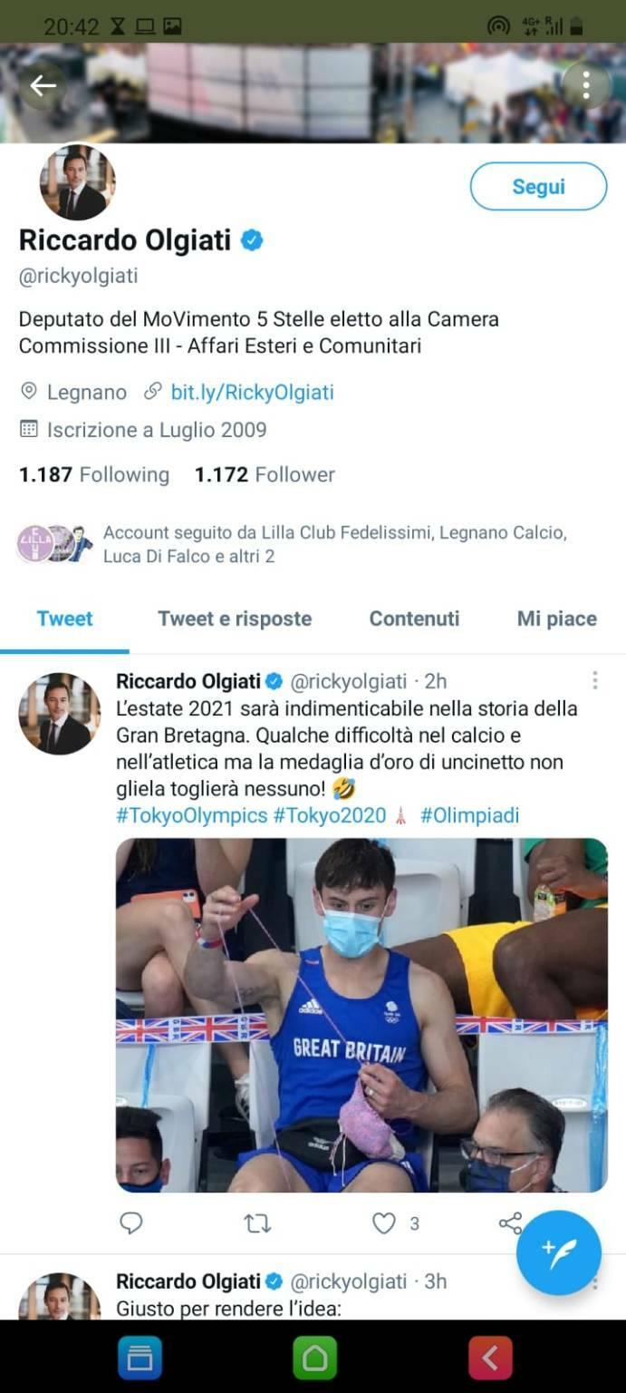 Riccardo Olgiati post twitter